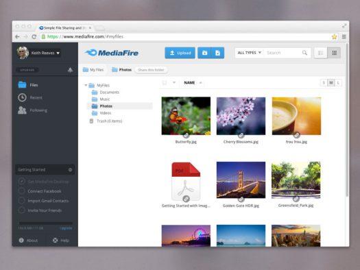 App Bar and My Files mediafire