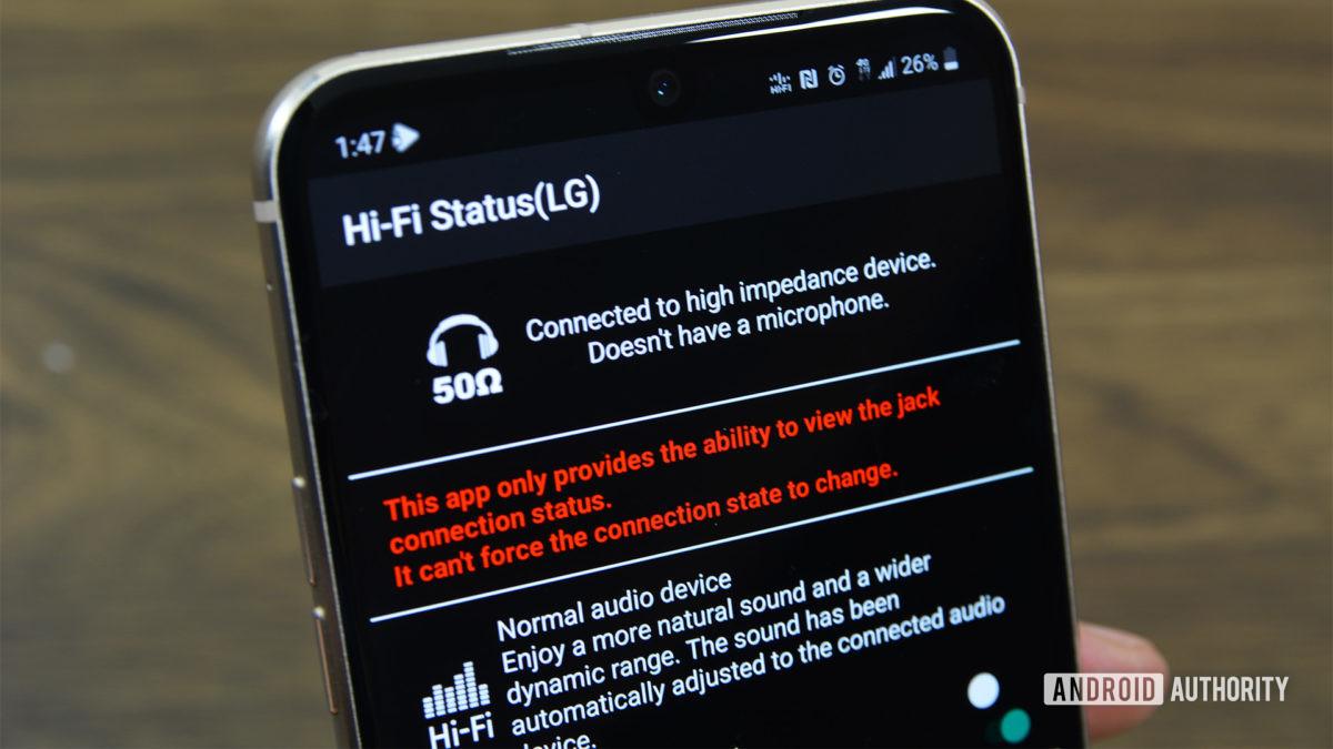 Приложение HiFi Status LG