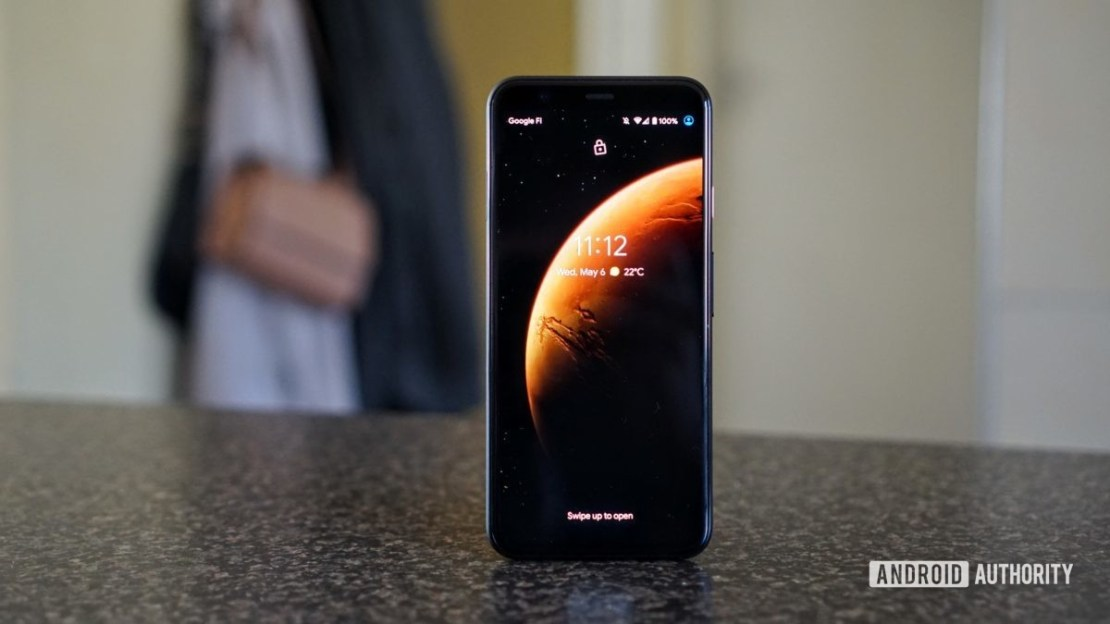 MIUI 12 super wallpapers on a Pixel 4.
