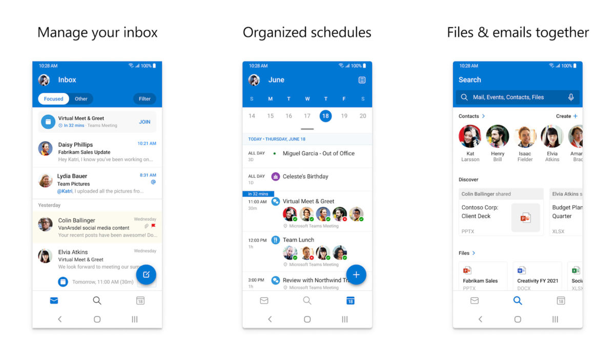 Microsoft Outlook screenshot 2020 2