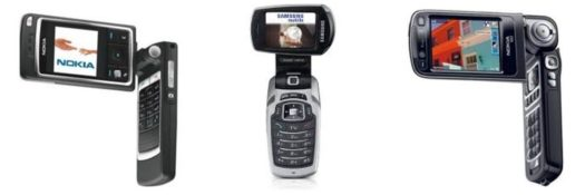 Old phones With Rotating Displays