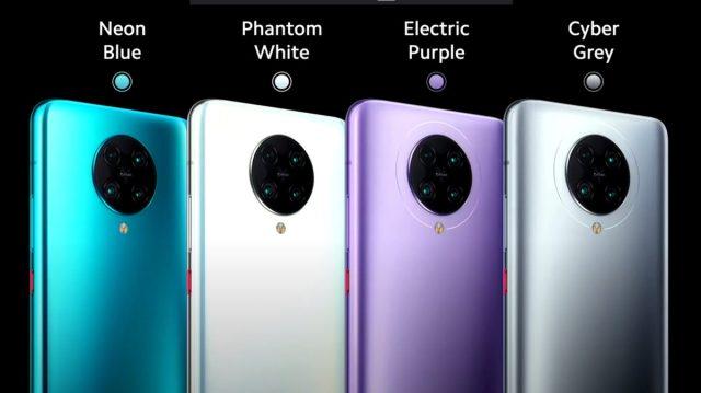 Various Poco F2 Pro colors