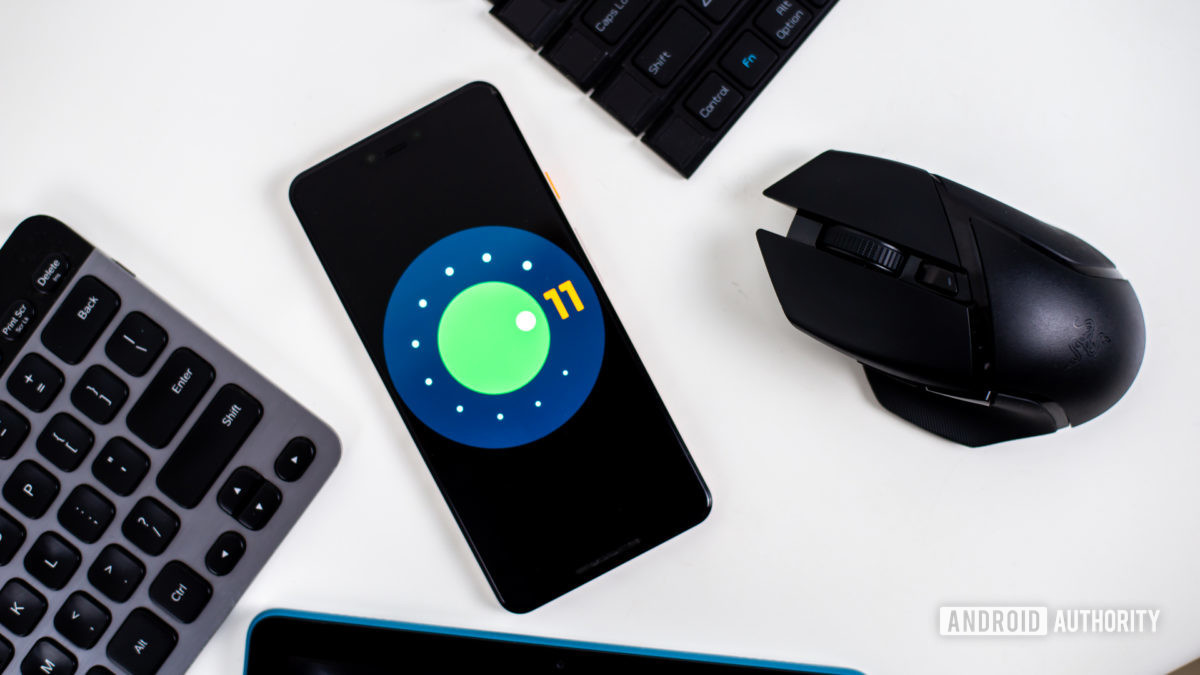 Android 11 логотип фото на смартфон 12