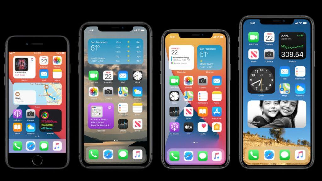 Виджеты домашнего экрана Apple WWDC 2020