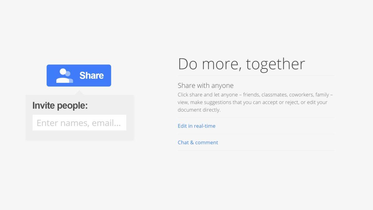 Как поделиться в Google Docs