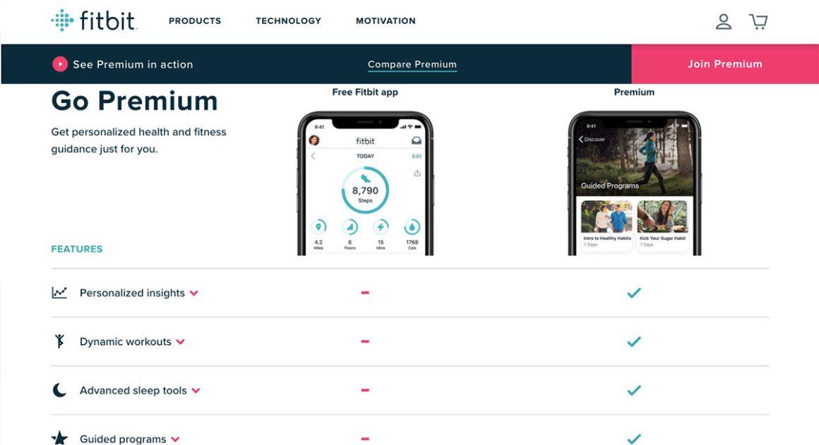 Как подписаться на Fitbit Premium