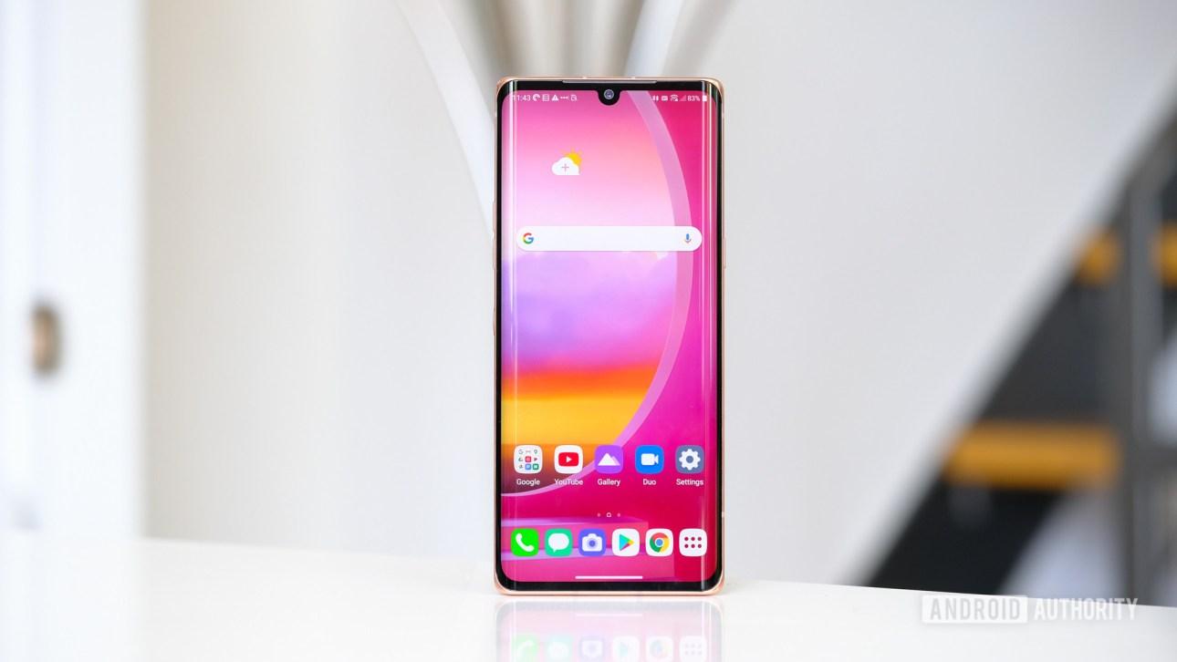LG Velvet screen стоит прямо - Как делать скриншоты на Android