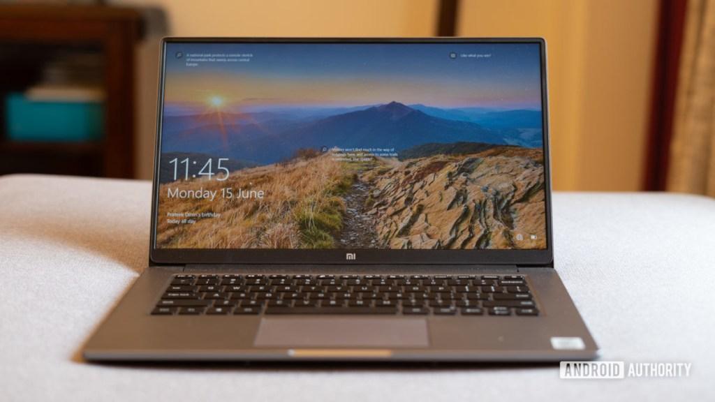 MI Notebook 14 Передняя панель Horizon с открытой крышкой
