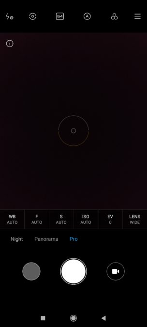 Poco F2 Pro камера приложение Pro режим