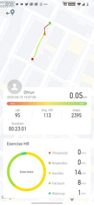 Realme Watch Workout
