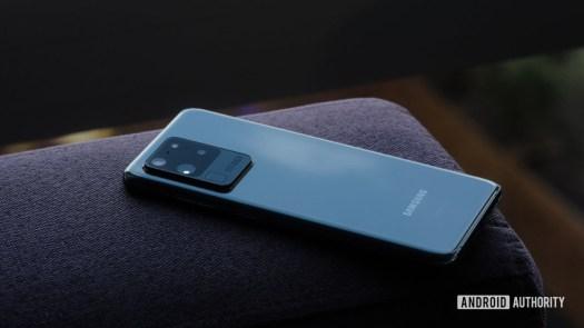 Samsung Galaxy S20 Ultra back at angle