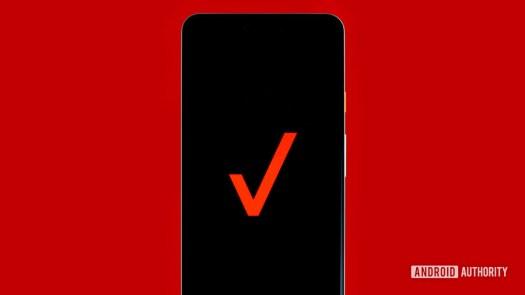 Verizon logo on phone stock photo