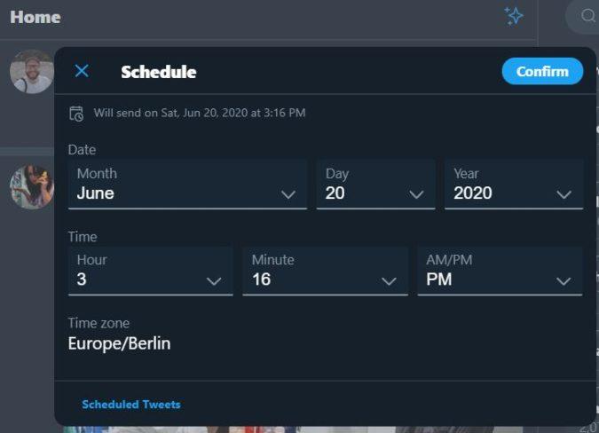 запланировать твит в сети 2