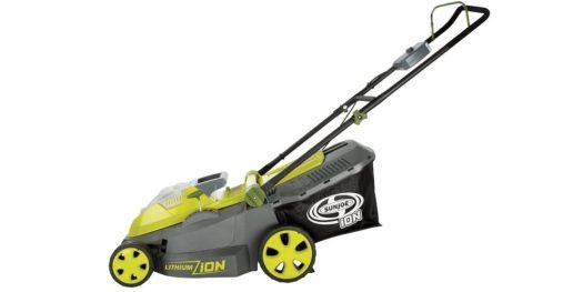 best lawn mower deals - sun joe 16 inch 40 volt mower
