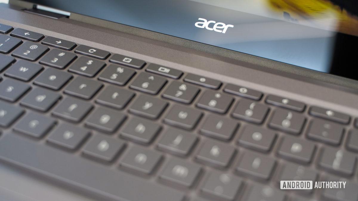 Клавиатура Acer Chromebook Spin 713 крупным планом