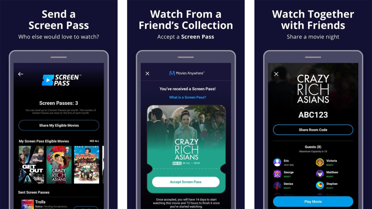 Captura de tela do Movies Anywhere 2020