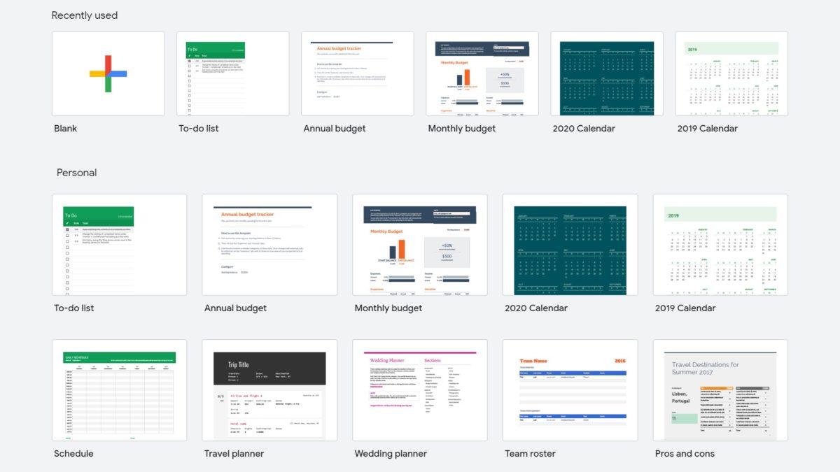 Как создать новую электронную таблицу - Новые шаблоны Google Sheets