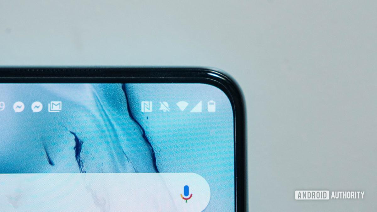 Macro OnePlus Nord close up do logotipo da bateria