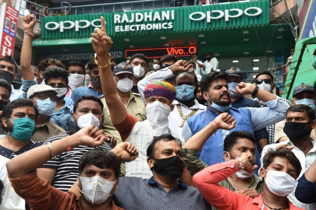 Oppo анти Китай протеста Индии