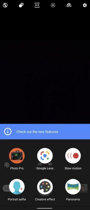 Снимок экрана приложения камеры Sony Xperia 1 II 3