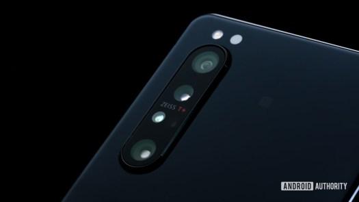 Sony Xperia 1 II macro of back cameras at angle