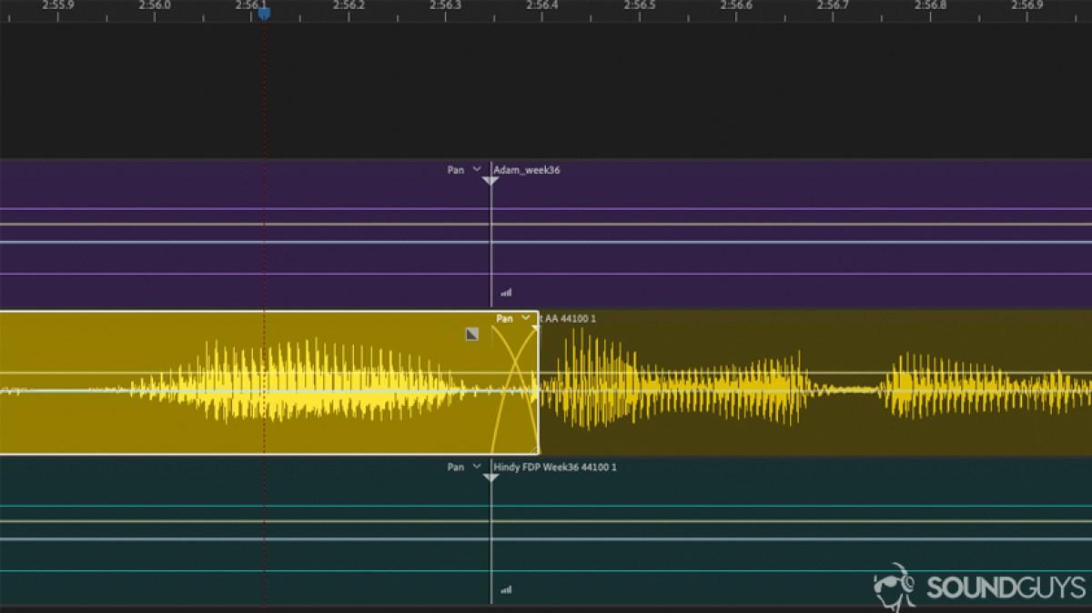 редактировать перекрестное затухание голоса - создание мелодии для телефона