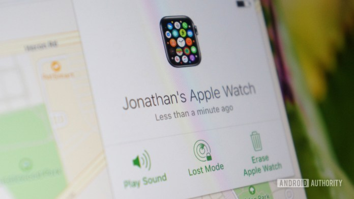 icloud find my apple watch