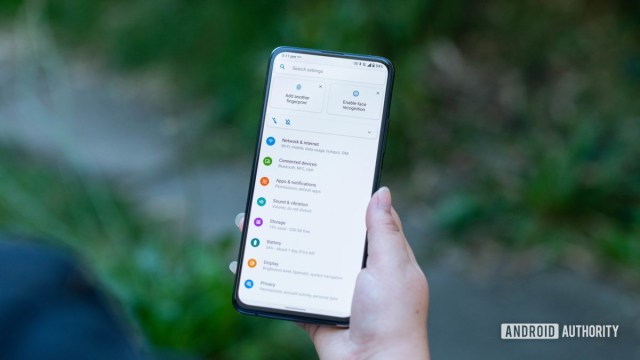 Asus Zenfone 7 Pro settings menu