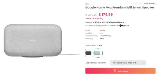 Google Home Max Dailysteals Deal