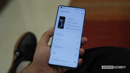 OnePlus 8 Pro Android 11 dev preview android 11 about page