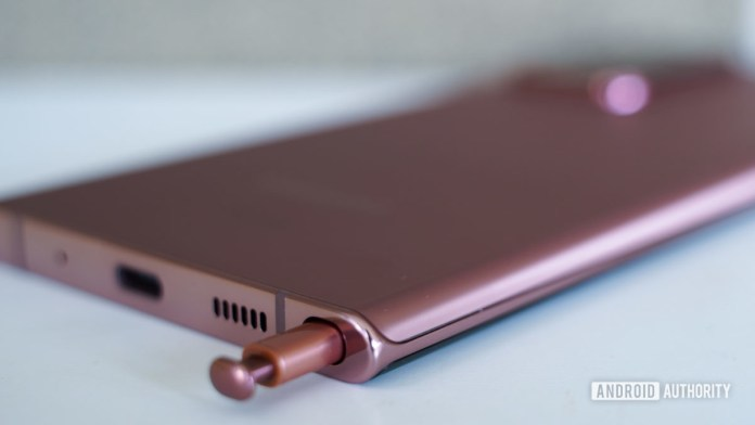 Samsung Galaxy Note 20 Ultra S Stift späht