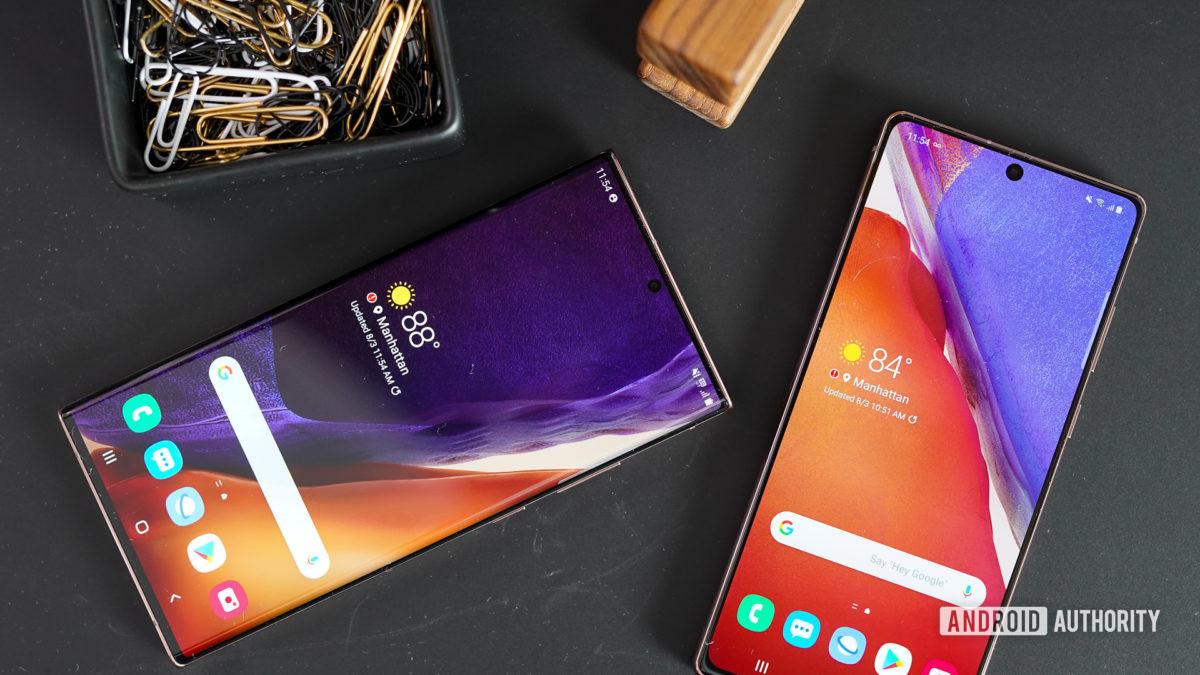 Samsung Galaxy Note 20 и Note 20 Ultra неформальный