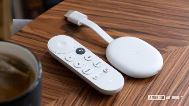 Google Chromecast with Google TV on table style photo