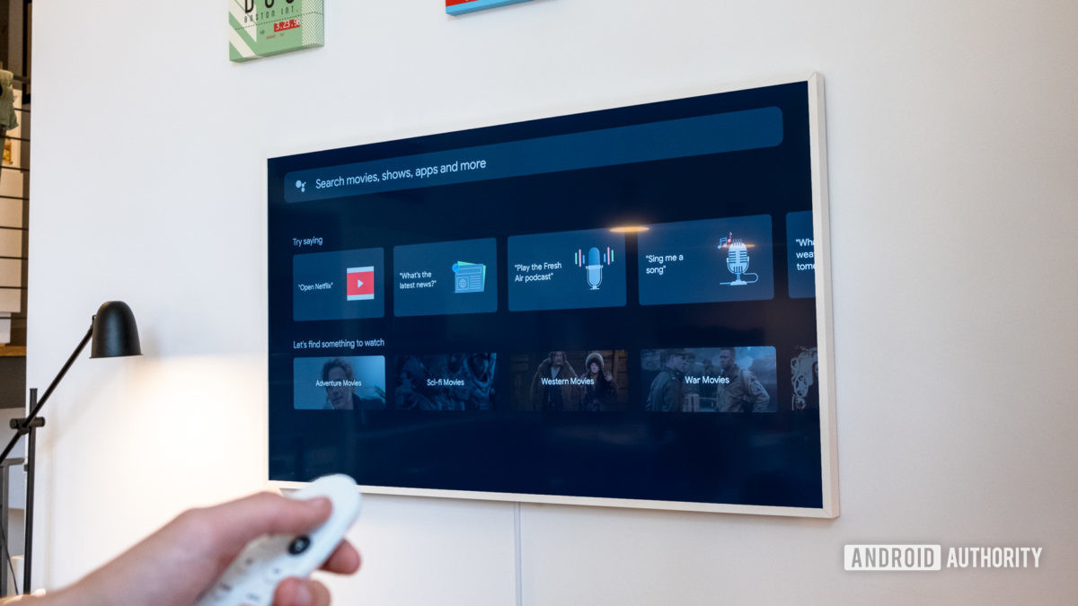 Google Chromecast с вкладкой поиска Google TV
