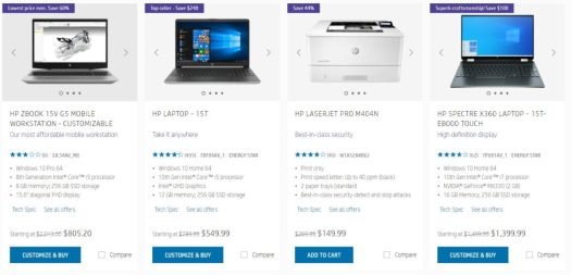 HP Labor Day Sale Examples