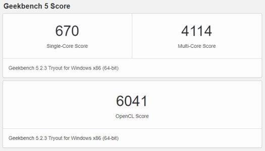 Honor MagicBook Pro Geekbench 5