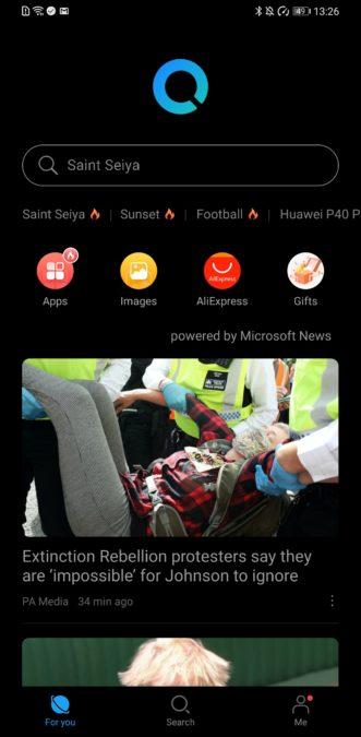 Целевая страница Huawei Petal Search