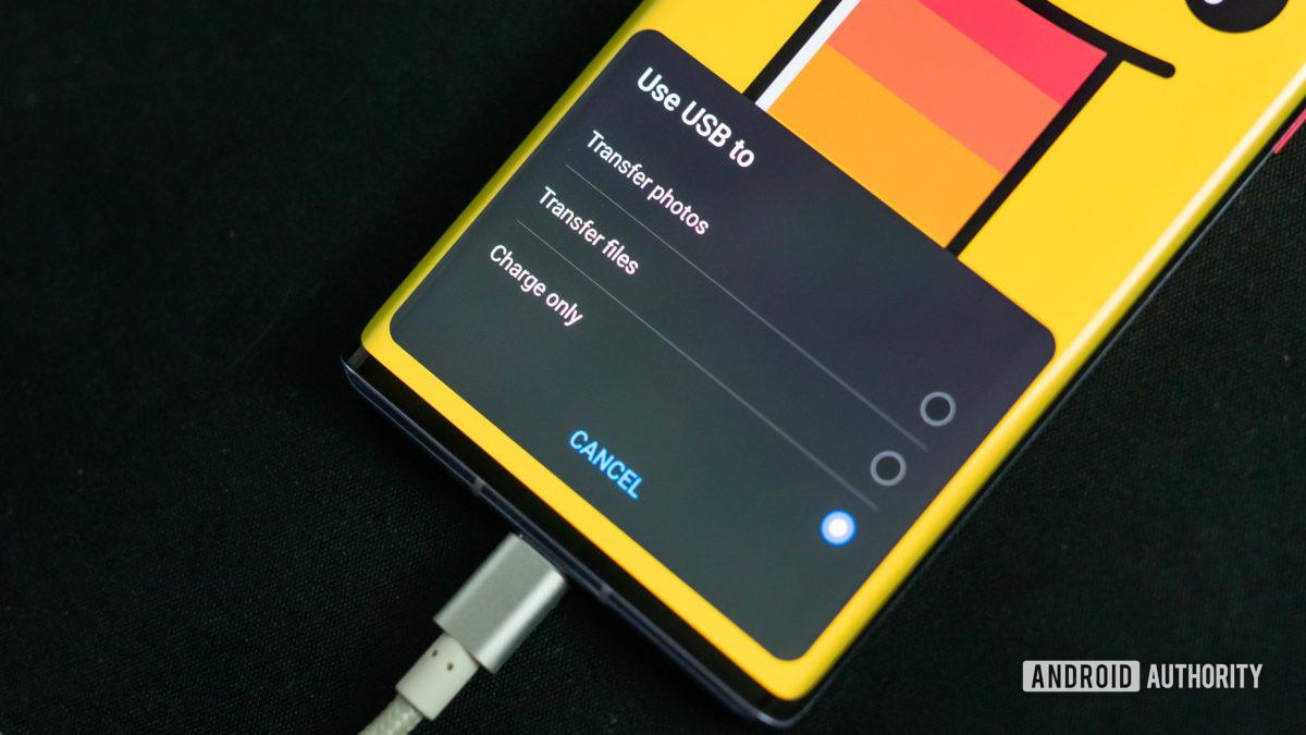 Виджет USB-передачи файлов Huawei с Mate 30 Pro