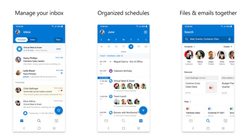Microsoft Outlook Screenshot 2020