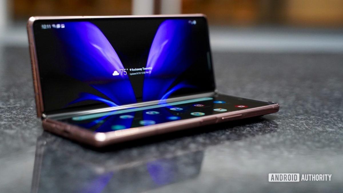Modo laptop Samsung Galaxy Z Fold 2