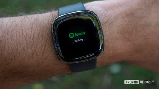 fitbit sense review spotify music app