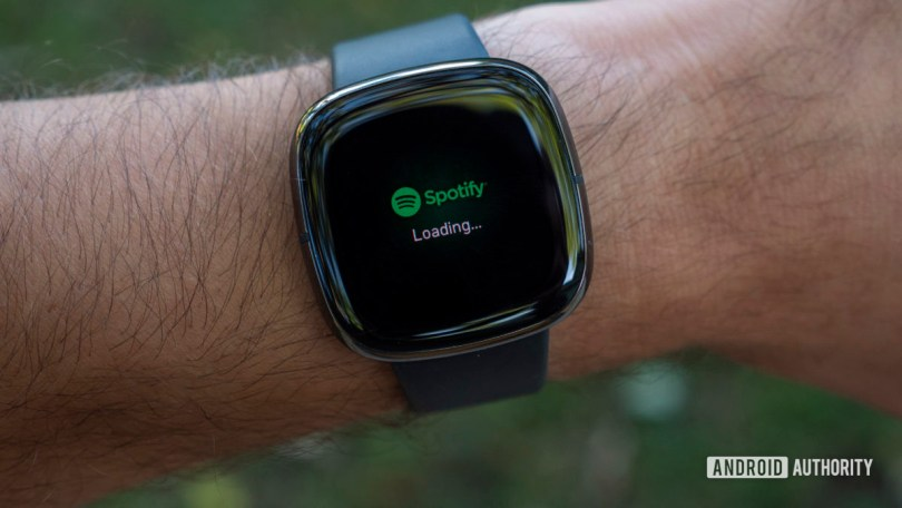fitbit sense review spotify music app