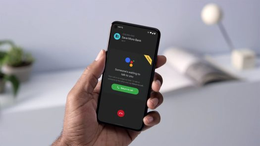 google assistant hold for me pixel 5