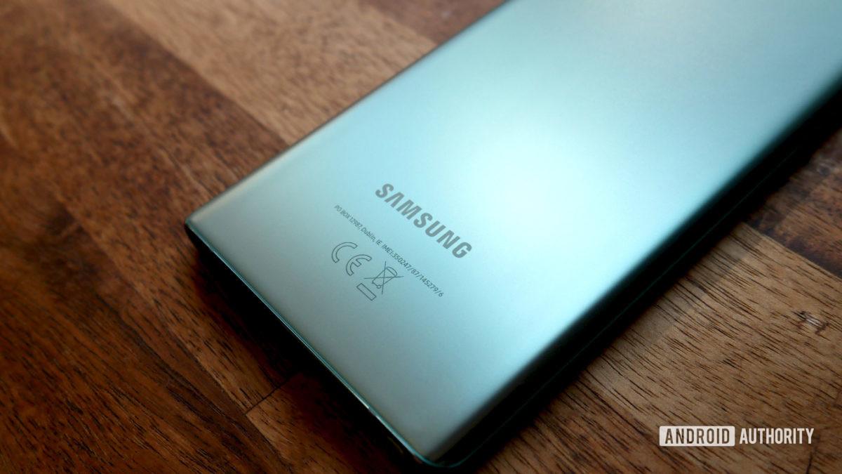 logotipo da avaliação do Samsung Galaxy Note 20