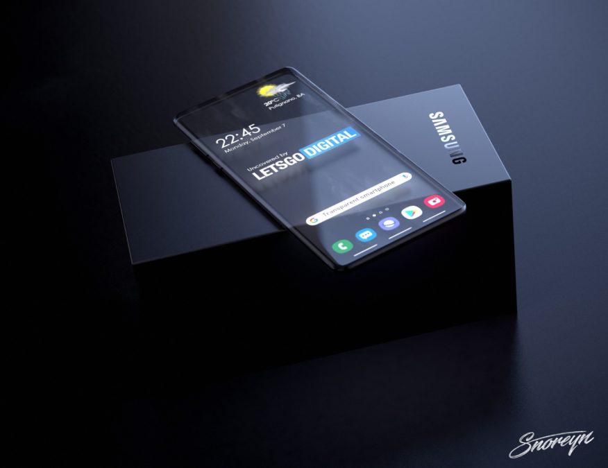 samsung transparent smartphone