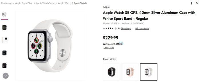Apple Watch SE 40mm Walmart Deal