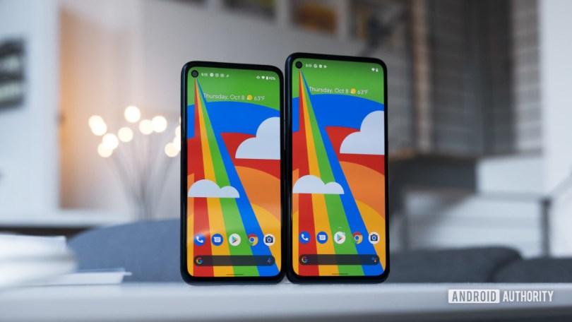 Google Pixel 4a 5G screen size comparison vs Pixel 4a Verizon deals