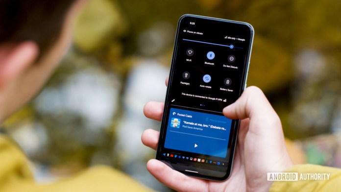 Google Pixel 5 Android Norification Tray 1