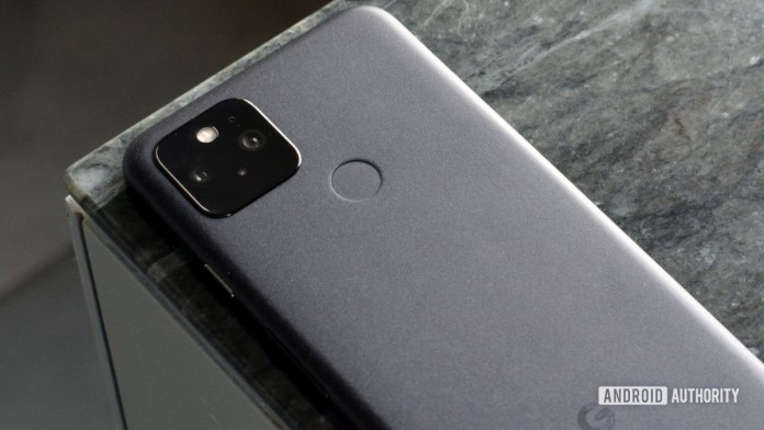 Google Pixel 5 gray back