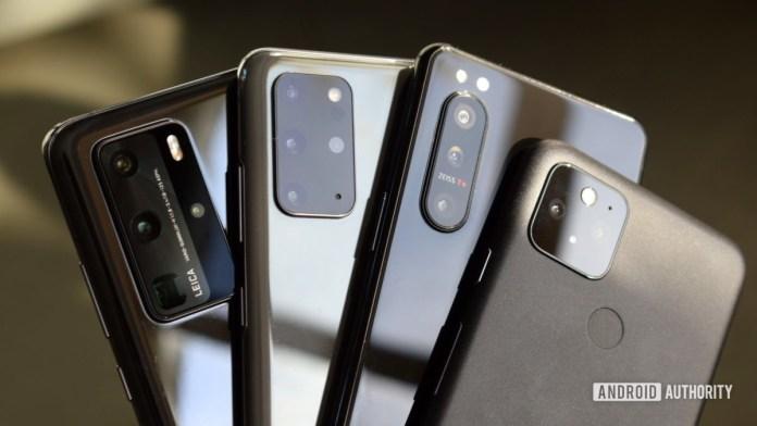 Google Pixel 5 versus Huawei P40 Pro versus Sony Xperia 5 II versus Samsung Galaxy S20 Plus